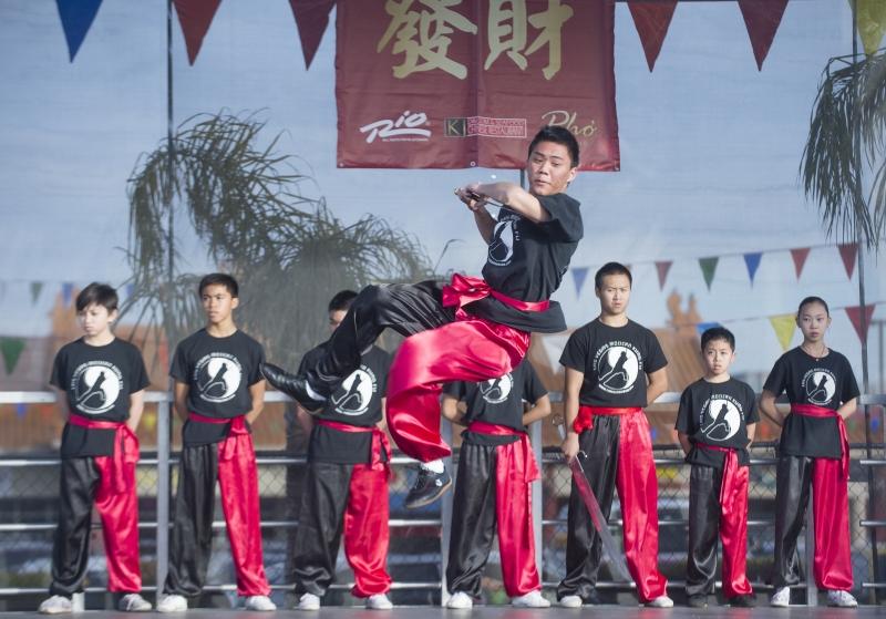 Wushu uppvisning